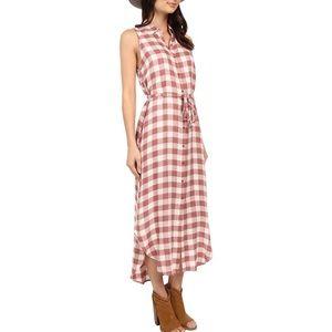BB DAKOTA Lance Buffalo Plaid Flannel Maxi Dress